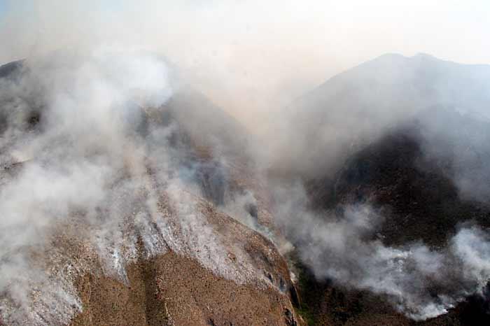 Las intensas lluvias apagaron el incendio en las sierras