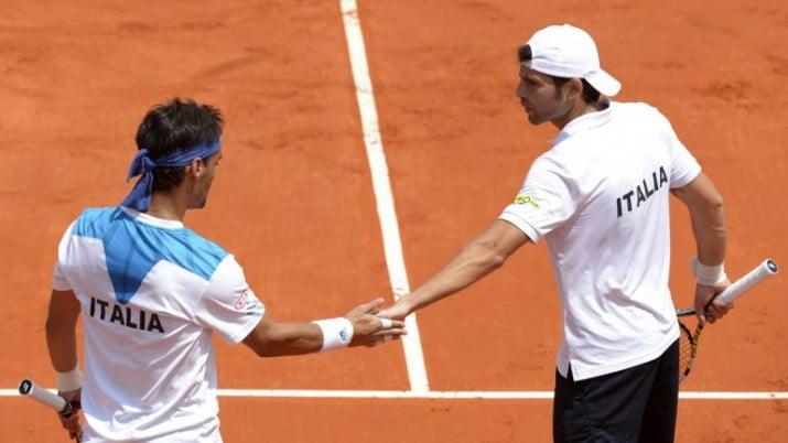 Copa Davis: Italia fue superior en el dobles y desniveló la serie