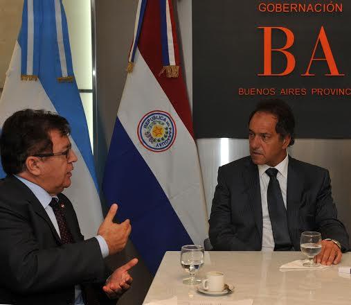 Scioli con el embajador de Paraguay, para potenciar el intercambio comercial