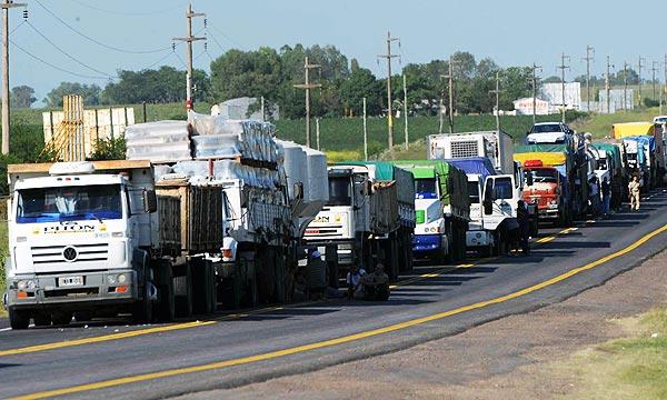 Restringen la circulación de camiones en Provincia