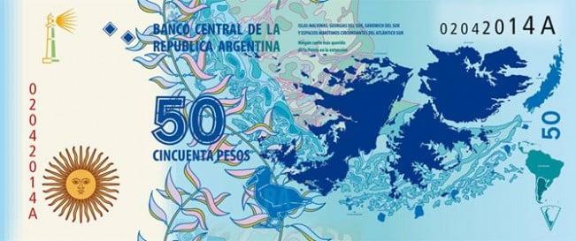 Lanzan un billete de 50 pesos en conmemoración de Malvinas