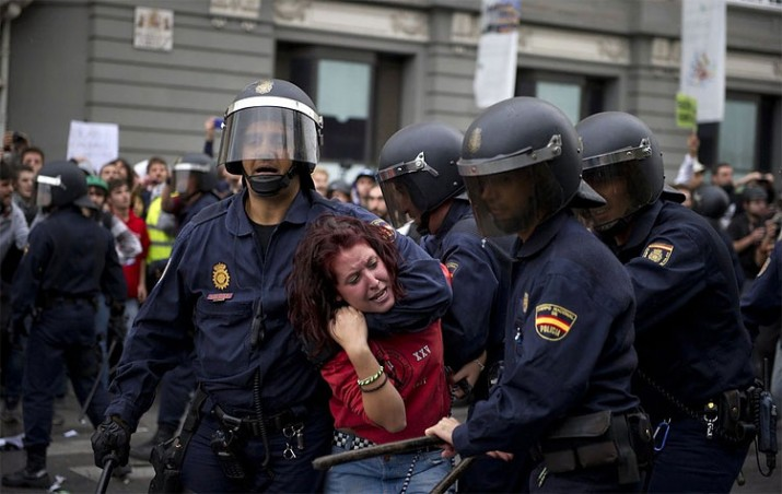 El avance represivo amenaza el derecho de protesta en España