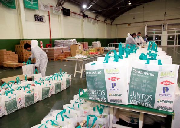 Dow, Profertil, Unipar y el sindicato del sector, donaron 40.000 kg de alimentos