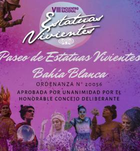 """Las """"Estatuas Vivientes"""" de Bahía Blanca están de festejo"""