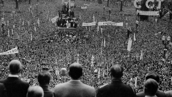El día que los trabajadores colmaron Plaza de Mayo por la liberación de Perón