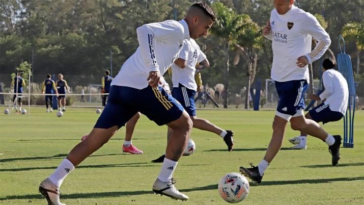 Boca abrió la práctica después de un año y sigue en duda el regreso de Cardona