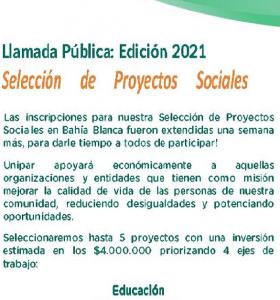 Unipar convoca a la selección de proyectos sociales 2021